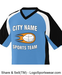 City Name Sports Team Jersey - Blue Blue Design Zoom